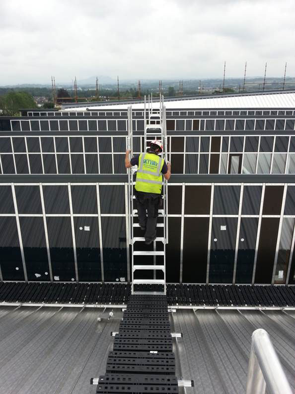 Safe roof access at Ballymena Health Centre
