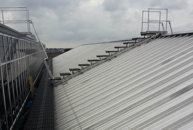 Kee Walk rooftop walkway system at Ballymena Health Centre