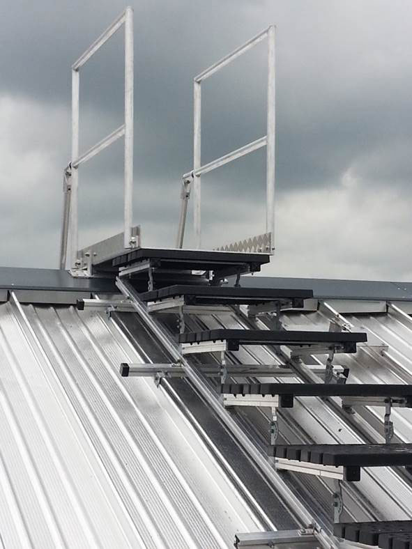 Safe roof access provide by Skyway for Ballymena Health Centre
