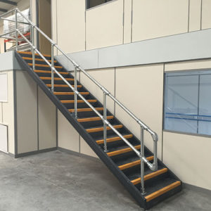 Kee Klamp handrails for stairs