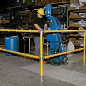 Safety barriers for warehouses and factories
